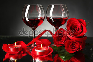 красное вино красные розы