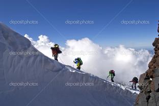 альпинисты, в горы