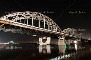 железная дорога мост Киев