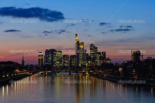 Франкфурт в сумерках