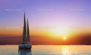 одинокая яхта