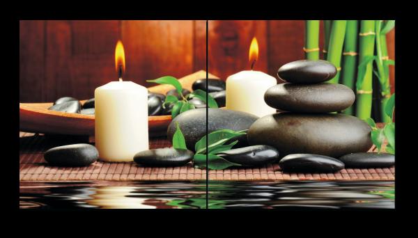 Бамбук, камни и свечи