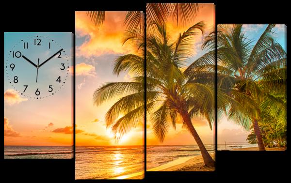Закат у побережья