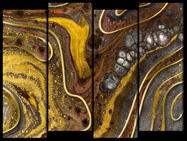 Абстракция золото