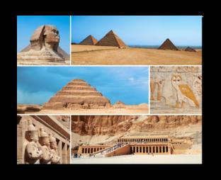 Пирамиды коллаж
