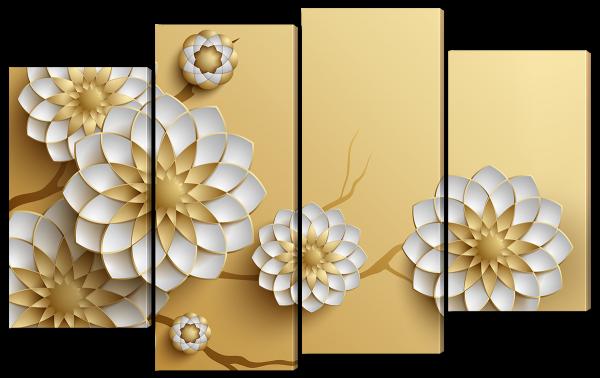 3д цветы