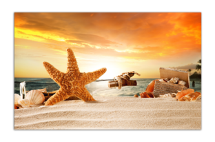 Pакушки на песке, закат
