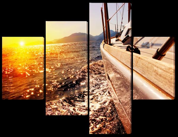 Закат яхта