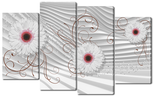 """Абстракция """"Белые цветы"""""""