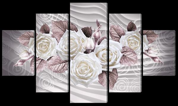 """Абстракция """"Белые розы"""""""