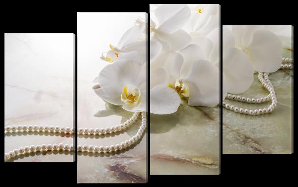 Орхидеи и бусы