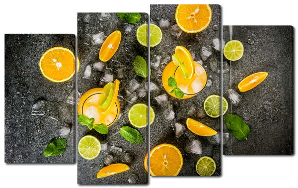 Апельсин лимон и лед