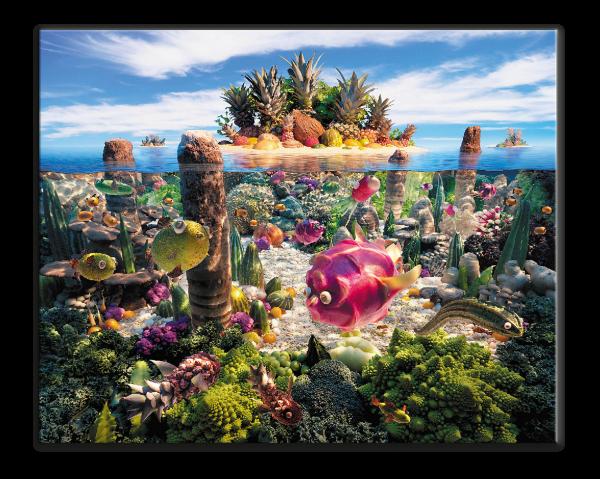 Океан из овощей и фруктов