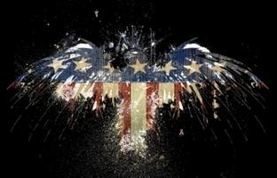 орёл флаг америка