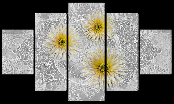 Абстракция из хризантем