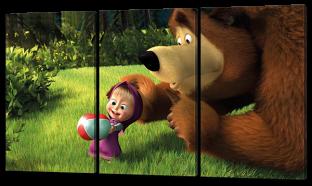 Маша и медведь на поляне