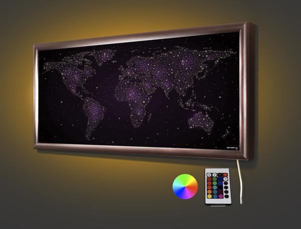 Карта мира 70,5* 32,5 см