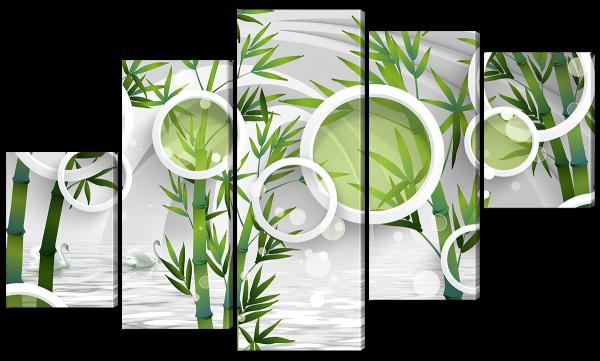 Бамбук, абстракция