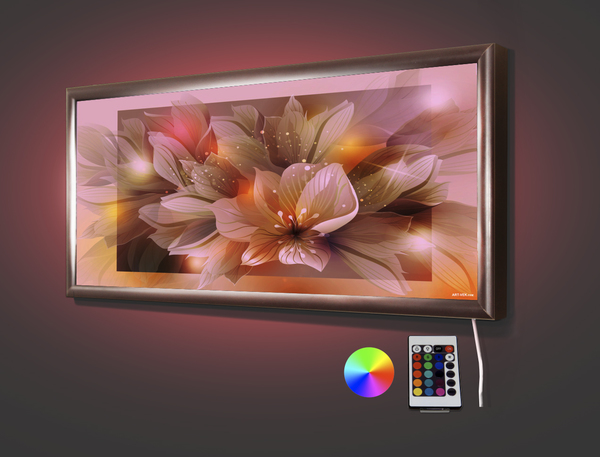 Абстракция цветок 70,5* 32,5 см
