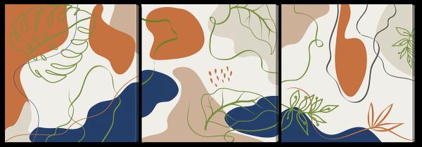Абстракция с листвой