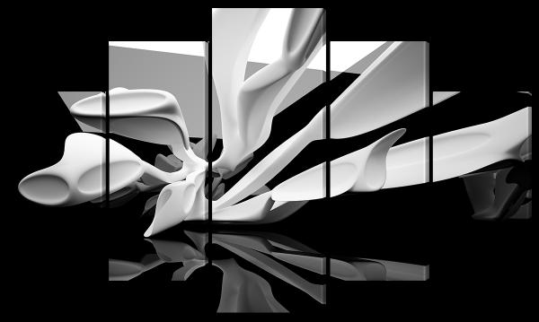 Черно белая абстракция
