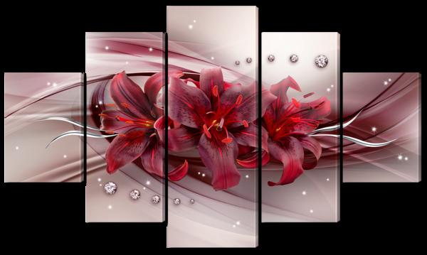 Бордовая лилия