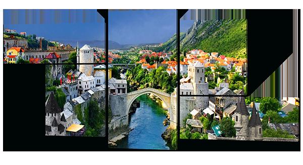 Арочный мост в Мостаре
