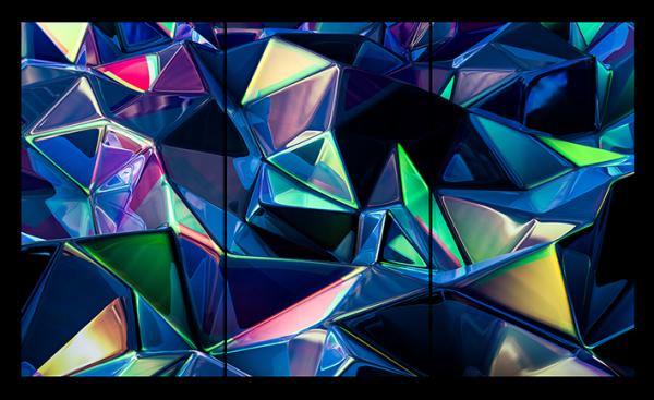 """Абстракция """"Треугольные отблески"""""""