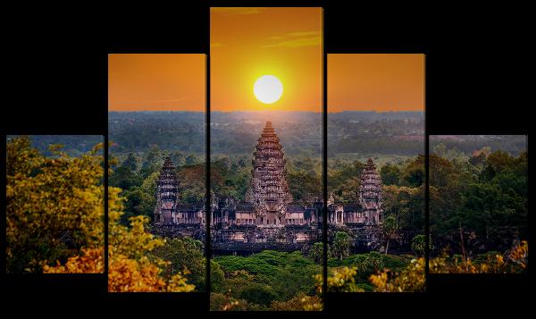 Ангкор-Ват на закате