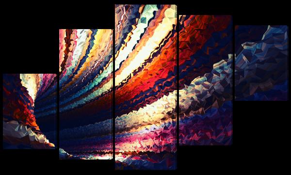 Абстрактный красочный тоннель