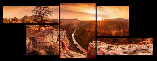 Закат над каньоном