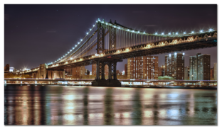 Oгни на мосту, отражение