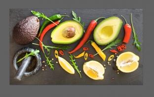 Перец чили и фрукты