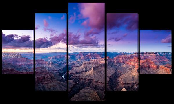 Красивое небо над каньоном
