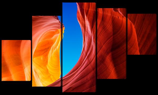 Небо и цветной каньон