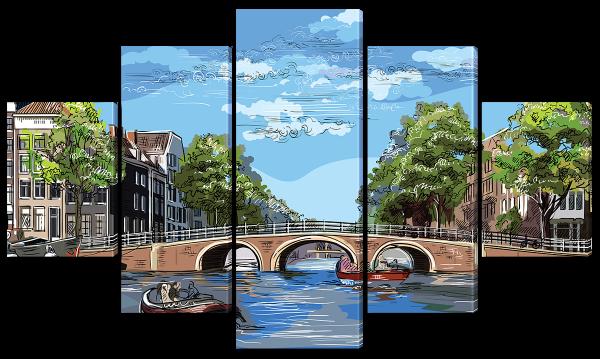 Арочный мост, рисунок