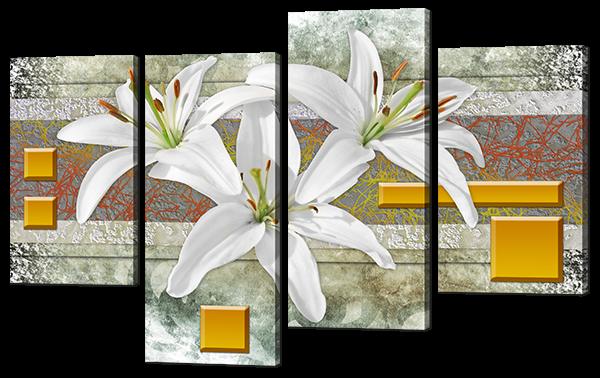 Абстракция три лилии