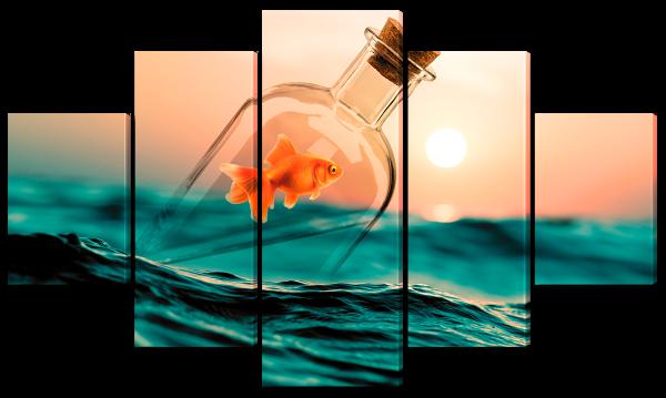"""Абстракция """"Рыбка в бутылке"""""""