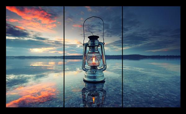 """Абстракция """"Лампа на воде"""""""