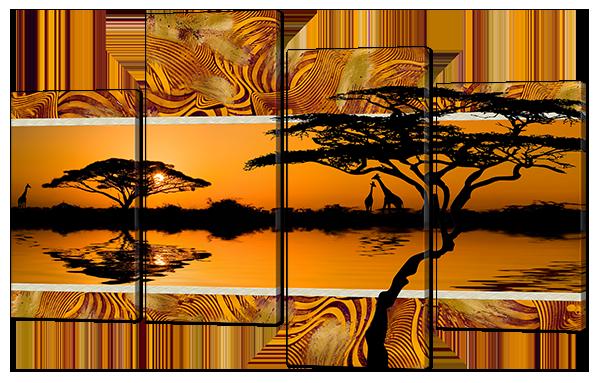 Африканский пейзаж закат