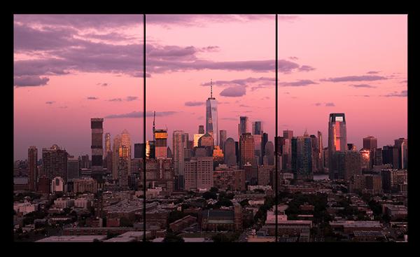 Малиновый закат в Нью-Йорке