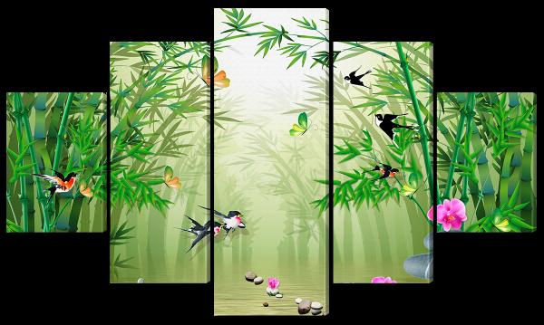 Бамбук и птички