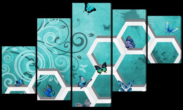 Бабочки, абстракция