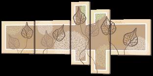 Абстракция листья гербарий