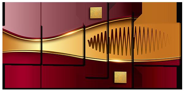 Абстракция золото и бордо