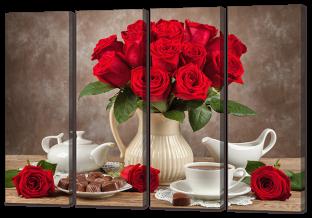 Красные розы и шоколад