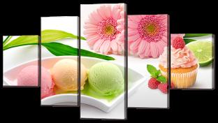 Цветы и мороженое