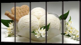 Мороженое и цветы