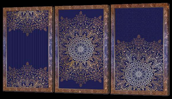 Абстракция на синем