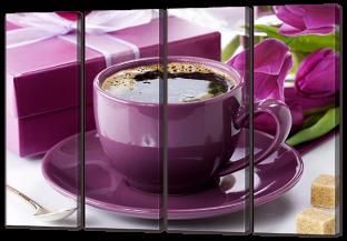 Ароматный кофе и тюльпаны